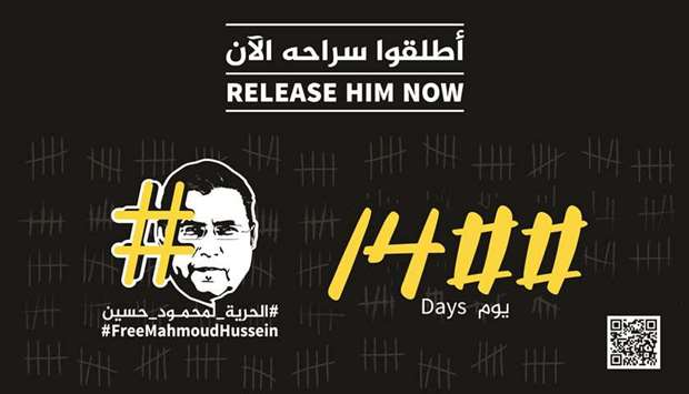 1,400 days behind bars and counting for Al Jazeera's Mahmoud Hussein