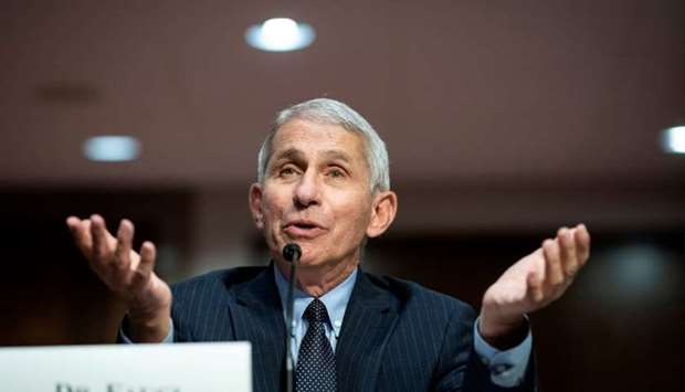 Anthony Fauci, director of the National Institute of Allergy and Infectious Diseases, speaks during