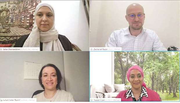 Some of the participants at the webinar.