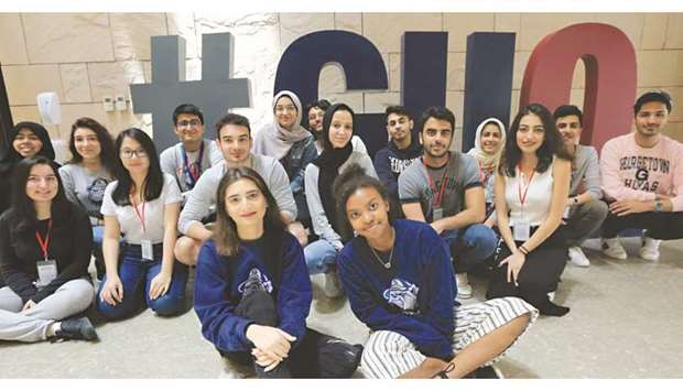 Georgetown University in Qatar students.