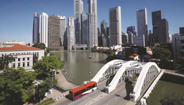 A view of the central business district in Singapore (file). While places such as China and Taiwan h