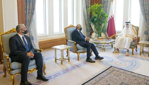 During the meeting, they reviewed bilateral co-operation relations and the means to enhance and deve