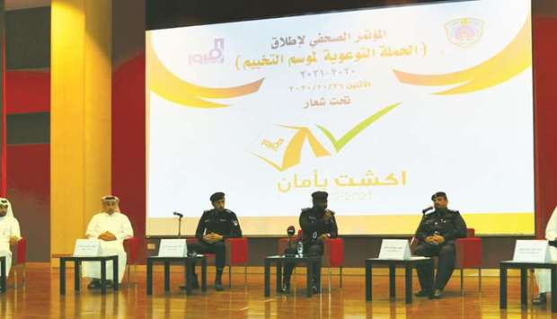 MoI officials announce on Monday the safety and security plans at Sealine area for the new camping s