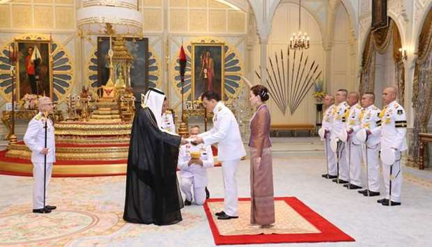 King Maha Vajiralongkorn of Thailand  receives the credentials of HE the Ambassador Extraordinary an