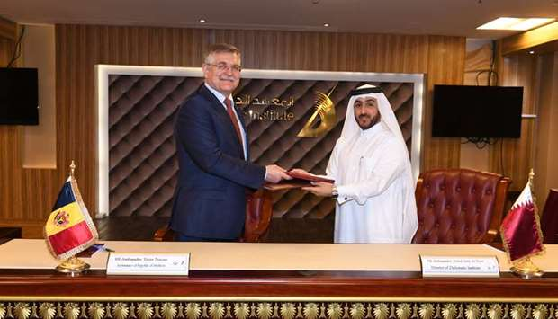 Signing of MoU for co-operation in the field of diplomatic training.