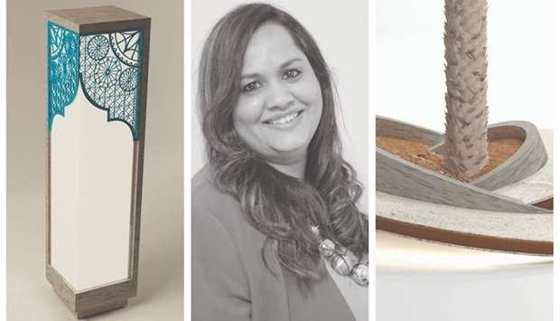 Lata Jadhav, Indian art and interior designer and her works.