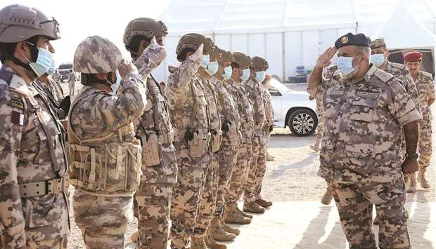The Qatari Armed Forces on Thursday concluded Nasr 2020 military exercise in the presence of HE the