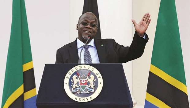 File photo shows Tanzania's President John Magufuli.