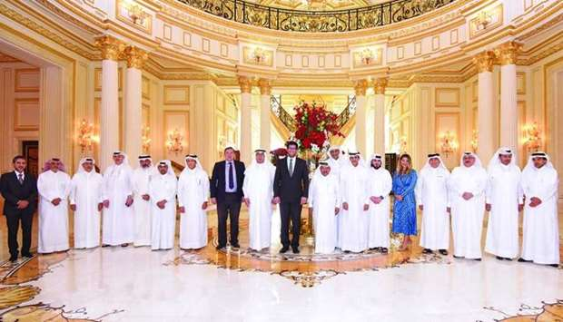 Dignitaries from the QBA and the UK during the business lunch held recently.