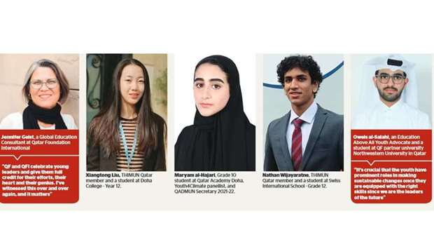 Qatar Foundation continues its efforts to support sustainability, and empowering the voices of youth