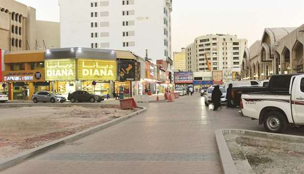 The buildings in Souq area are set to wear a new look with there facades modified and there viciniti