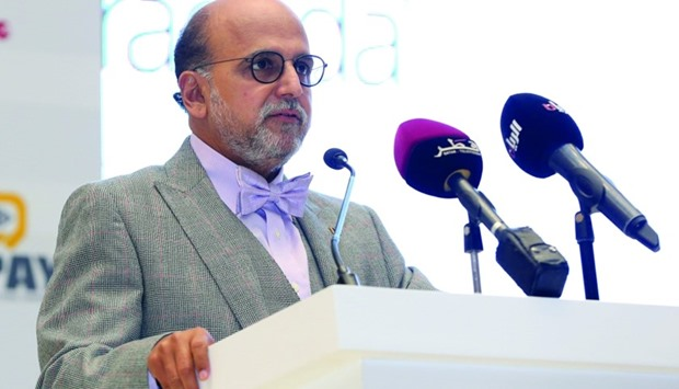 Dr Seetharaman delivering his speech during the conference. PICTURE: Jayan Orma