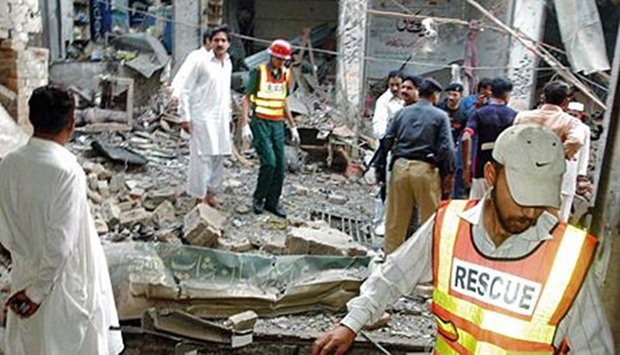 bomb exploded at a Sufi shrine