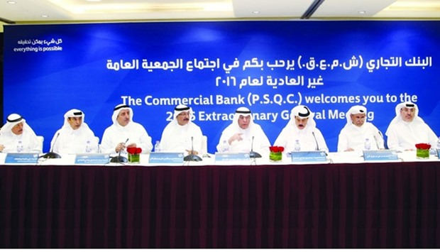 Commercial Bank extraordinary general meeting in Doha