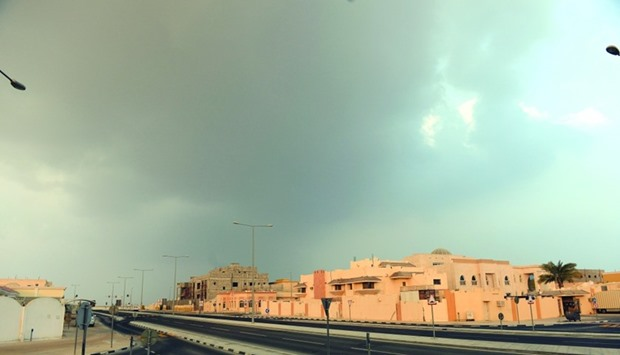 Overcast conditions in Doha on Wednesday.