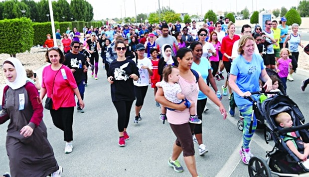 Hundreds of participants took part in the 13th Terry Fox Run at CNA-Q campus. PICTURE: Jayan Orm