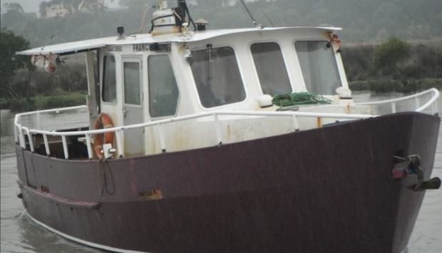 The Francie, a fishing charter vessel thought to have got into trouble on the Kaipara Harbour