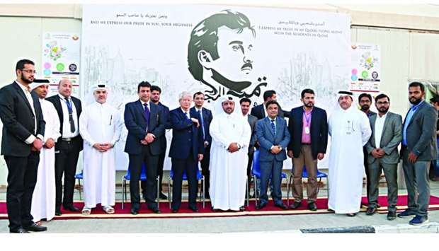 Officials and ambassadors at the opening of the event.