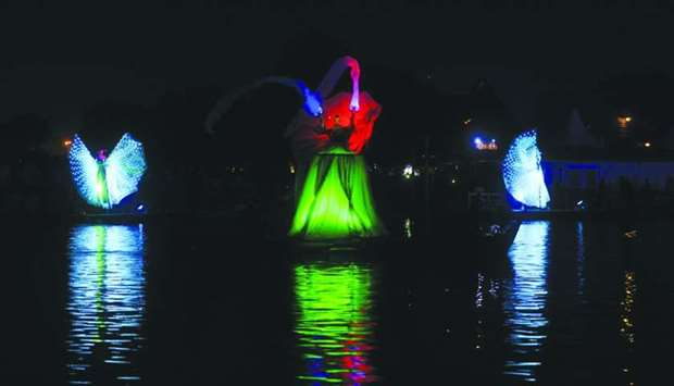 A scene from the 'Aspire Lake Festival'. PICTURE: Shemeer Rasheed.