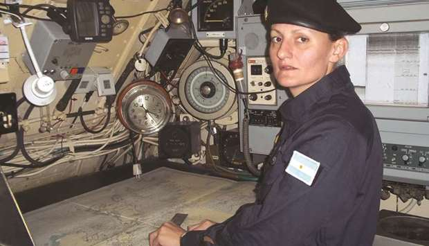 Argentine submarinist Eliana Krawczyk who is aboard the missing San Juan.