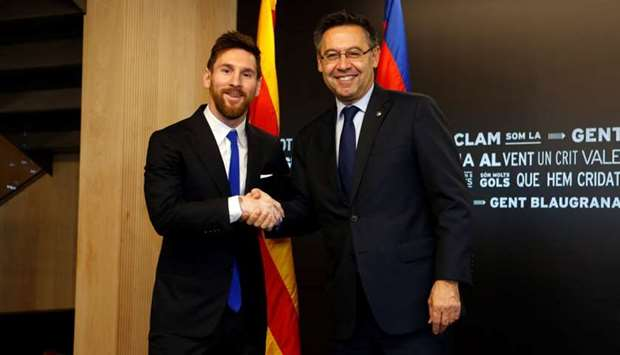 Image result for Josep Maria Bartomeu with Messi