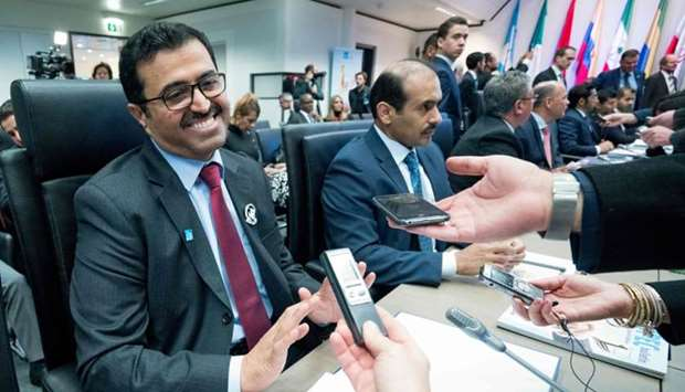 HE the Minister of Energy and Industry Dr Mohamed bin Saleh al-Sada attends the 173rd Opec Conferenc