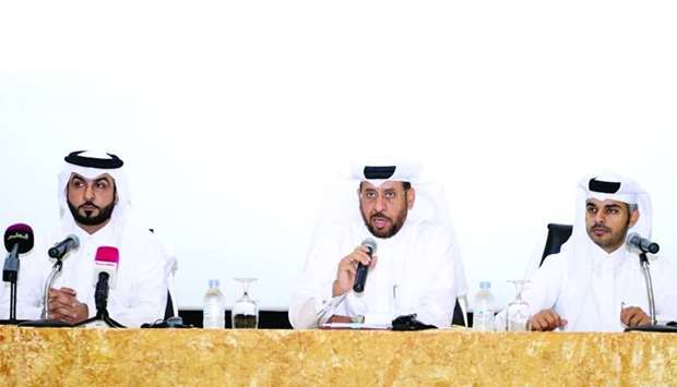 Major Ali Mohamed al-Ali,Major Mubarak Salim al-Bouainain and Falah Dousari at the press conference.