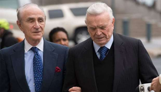 Former Brazilian National Football Federation president Jose Maria Marin arrives at Brooklyn Federal