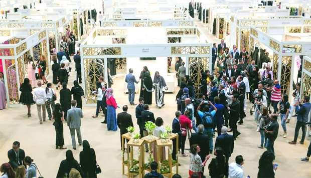 A view of the crowd at Heya Arabian Fashion Exhibition