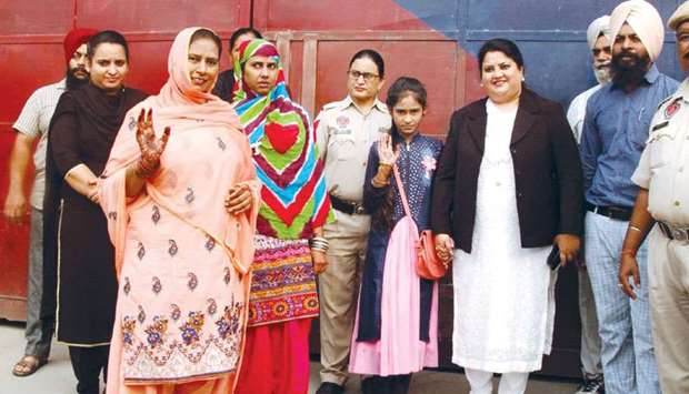 Pakistani national Fatima, who had been lodged in the Amritsar Central Jail with her daughter Hina a
