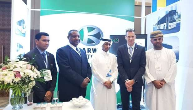 Robert Makando and other officials at other IRU World Congress in Muscat.