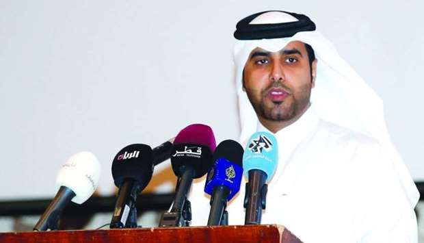 DCMF official Hamad al-Marri speaks at the forum