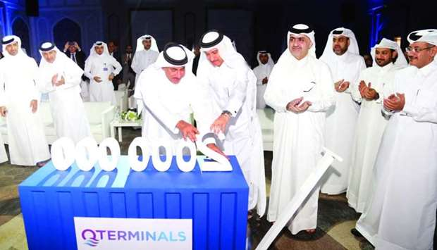 HE Jassim Saif Ahmed al-Sulaiti, along with other officials, joins the celebrations of QTerminals