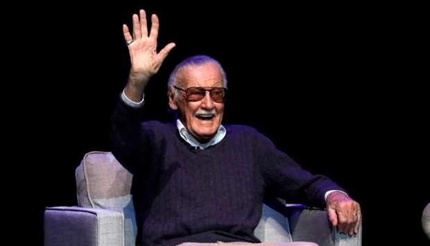 "Marvel Comics co-creator Stan Lee attends a tribute event ""Extraordinary: Stan Lee"" at the Saban The"