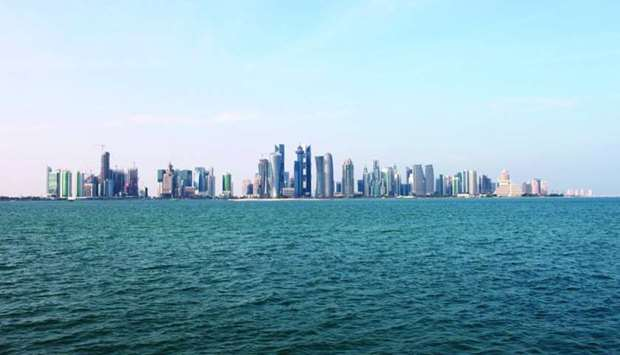 A view of the Doha skyline.