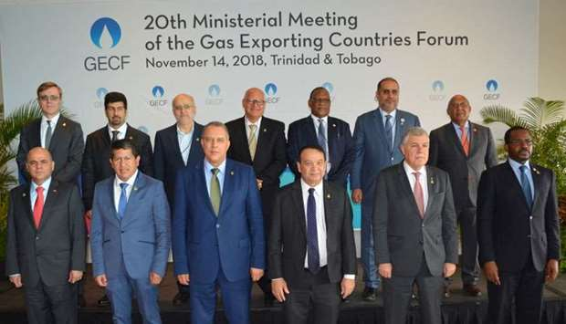 Sheikh Mishal (back row - second left) with dignitaries who attended the 20th Ministerial Meeting of