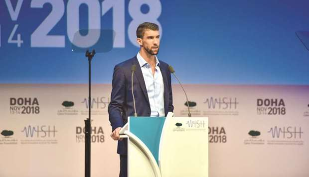 It's OK not to be OK, says Phelps