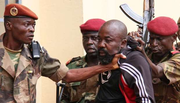 """Members of the armed forces arrest Central African MP Alfred Yekatom aka """"Rambo"""""""