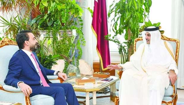 Amir meets Speaker of Iraqi Council