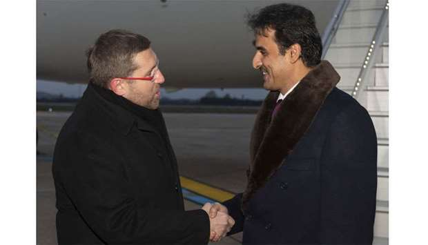 His Highness the Amir Sheikh Tamim bin Hamad al-Thani arrived in Zagreb on Sunday evening for a two-