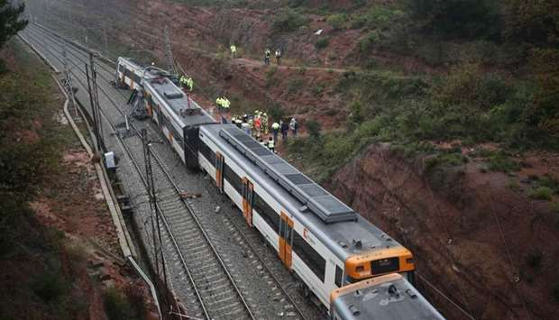 Train derails in north Spain, killing one, injuring 44