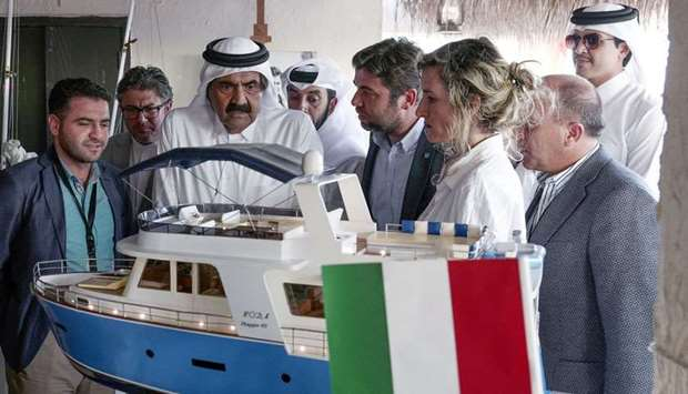 His Highness the Father Amir visits dhow festival