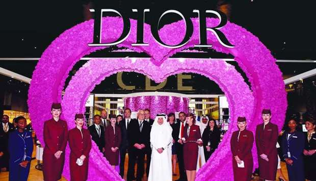 Qatar Airways Group Chief Executive Akbar al-Baker and Dior in-house perfumer and creator Francois D