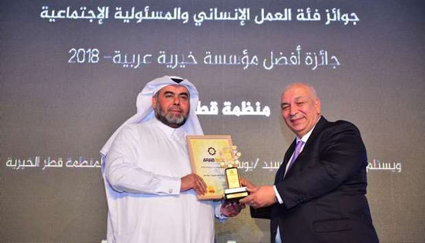 Qatar Charity named 'Arab Best Charity Organisation'