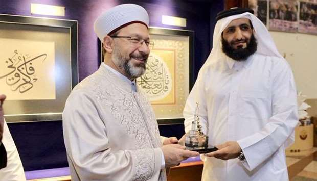 Head of Turkish Religious Affairs Directorate (Diyanet), Professor Ali Erbas, said that Turkey and Q