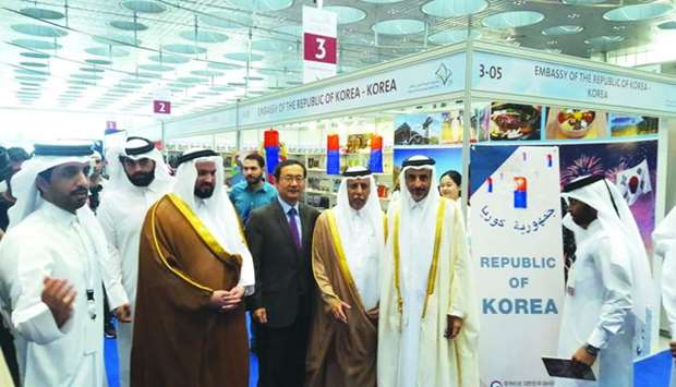 South Korean ambassador Kim Chang-Mo welcomes HE the Minister of Culture and Sports Salah bin Ghanem