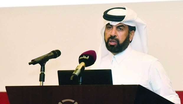 Al-Mansoori outlining the QSE's new electronic system to help listed firms produce unified disclosur