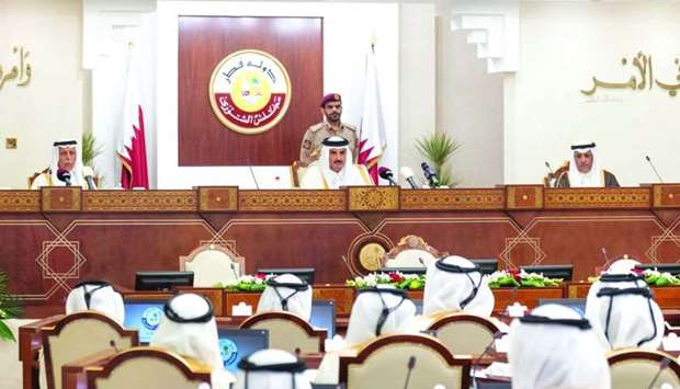 His Highness the Amir Sheikh Tamim bin Hamad al-Thani addressing the 47th ordinary session of the Ad
