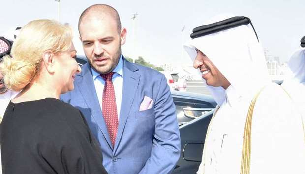 Romanian PM leaves Doha