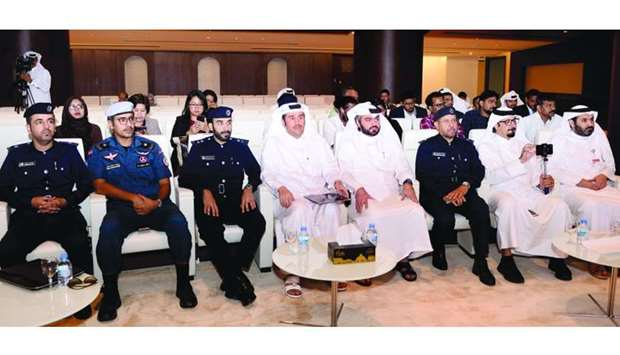 Senior officials at the launch of the new Qatar Visa Portal